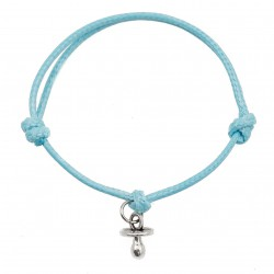 Pacifier bracelet with blue string