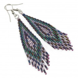 Indian earrings, surgical steel and Toho glass