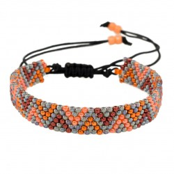 Zigzag beading bracelet adjustable