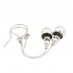 Silver earrings with Swarovski pearls