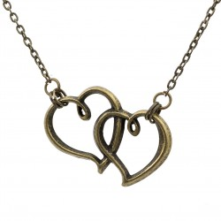 Long necklace with two hearts