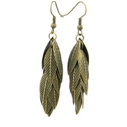 Earrings leaf of a bunch, bunch boho