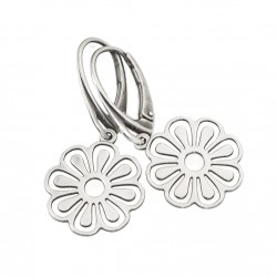 Flowers  - silver earrings