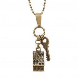 Necklace house and key