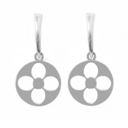 Rosette flower earrings silver 925