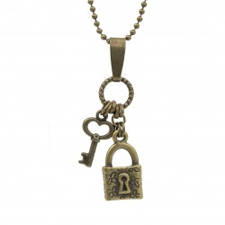 Necklace lock and key