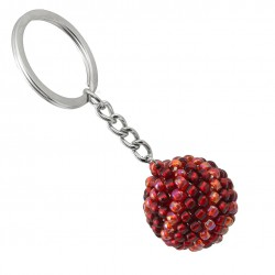 Bead keychain, beading ball purple