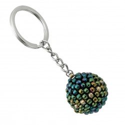 Bead keychain, beading ball gasoline colors
