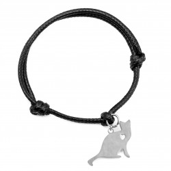 String bracelet cat surgical steel