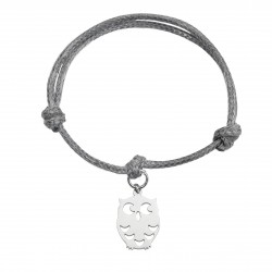 String bracelet owl surgical steel