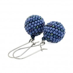 Bead earrings, beading steel, surgical steel