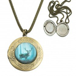 Necklace secretary with graphics - deer