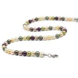 Necklace seashell colorful 50 cm