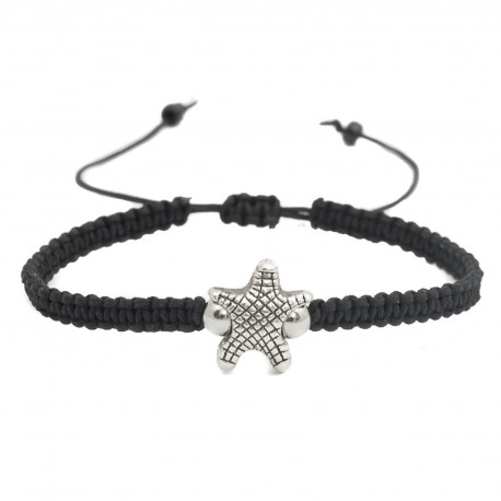 Adjustable starfish macrame bracelet braided