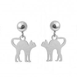 Earrings cats surgical steel sticks