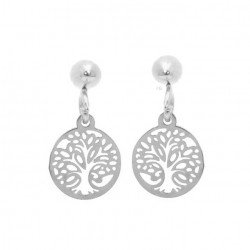 Tree of life earrings, mini,  surgical steel