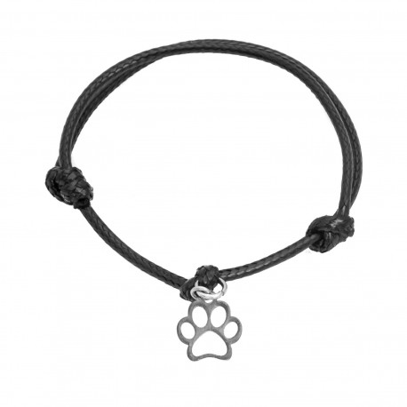 Cord bracelet, paw, surgical steel