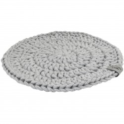 Plate pad gray Handicraft from Poland