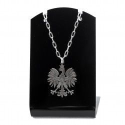 Eagle emblem chain with a pendant steel