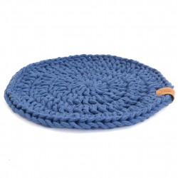Plate pad indigo blue Handicraft from Poland