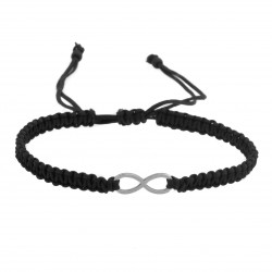 Adjustable infinity bracelet, loop, surgical steel