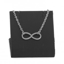 Infinity celebrity necklace, 40 cm surgical steel