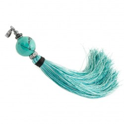 Pendant with turquoise and tassel, 925 silver