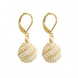 Gold-plated stainless steel beading earrings