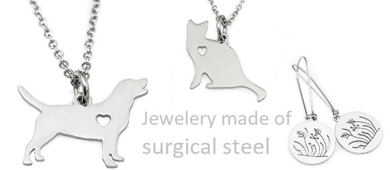 Jewelery made of surgical steel